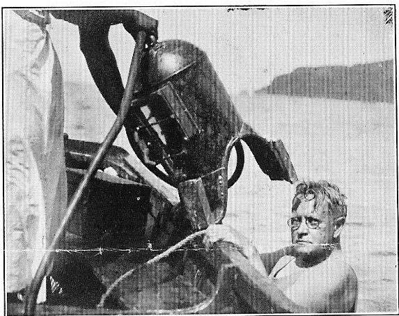 AC with his gear and Underwater Camera 1930
