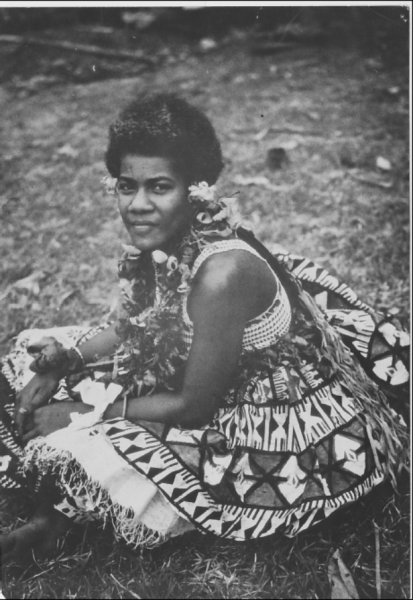 Samoan Woman with flower