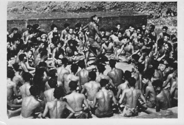 A gathering of the Samoan people taken by Pillsbury
