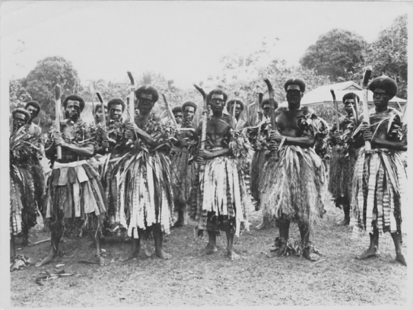 Samoans dressed for a festival